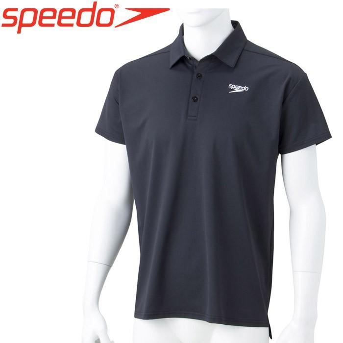 メール便対応 スピード 水泳 ショートスリーブスタンダードドライポロシャツ SA41909-K