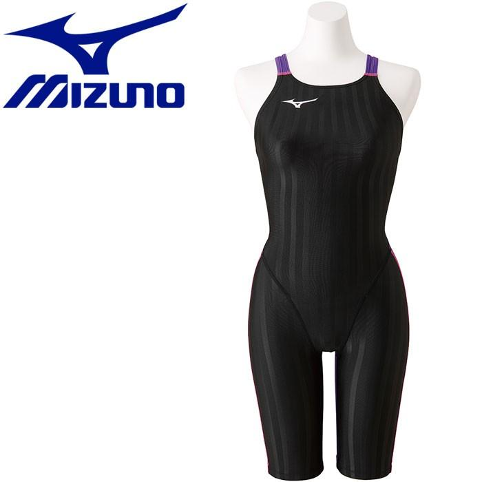 ミズノ 水泳 ストリームアクセラ ハーフスーツ 競技水着 レディース N2MG822698 返品不可