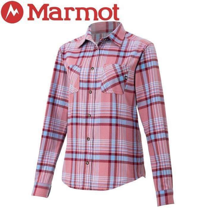 マーモット Ws Plaid Dry L/S Shirt ウィメンズプレイドドライロングスリーブシャツ レディース TOWOJB75-ROS