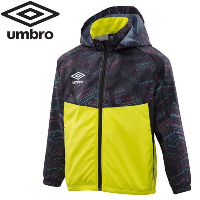 アンブロ サッカー Jr.フード付きラインドジャケット ジュニア UMJOJF40-BLK