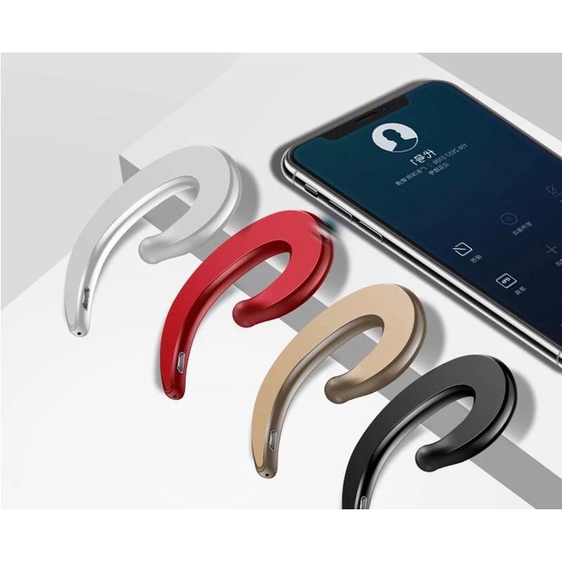 Bluetooth イヤホン ワイヤレスイヤホン  耳掛け型 骨伝導 スピーカー イヤフォン イヤホンマイク 片耳 USB 充電  高音質 超軽量 テレワーク t-a 08