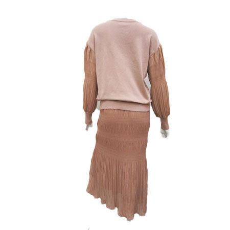 C'EST MOIJEU セモアージュ / ランダムプリーツ ニット使いスカート  t-blueberry 08