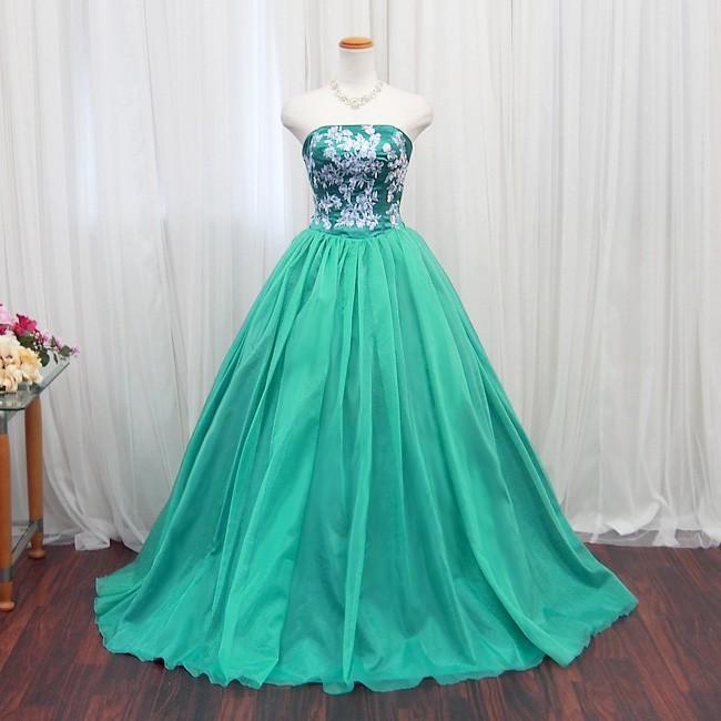 カラードレス ロングドレス 演奏会用ドレス ウエディングドレス
