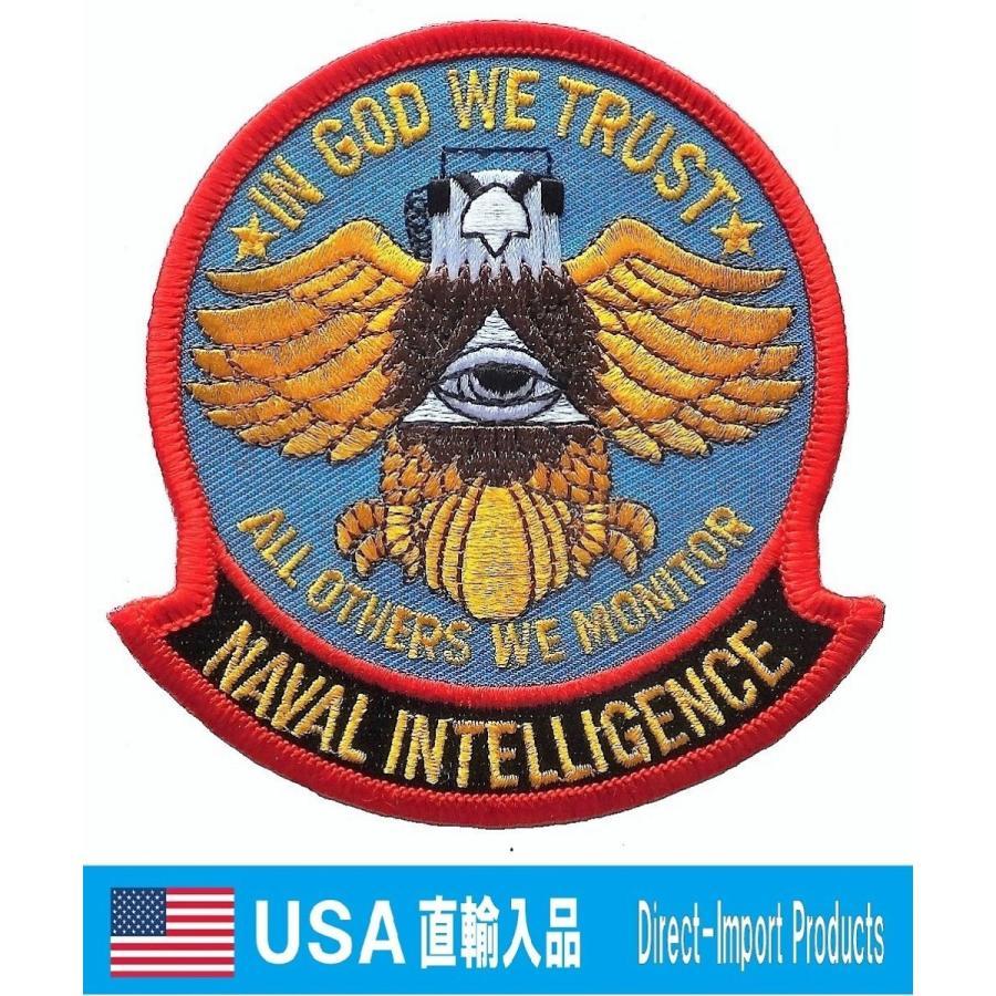 ミリタリー ワッペン 海軍情報局 NAVAL INTELLIGENCE アメリカ軍 ...