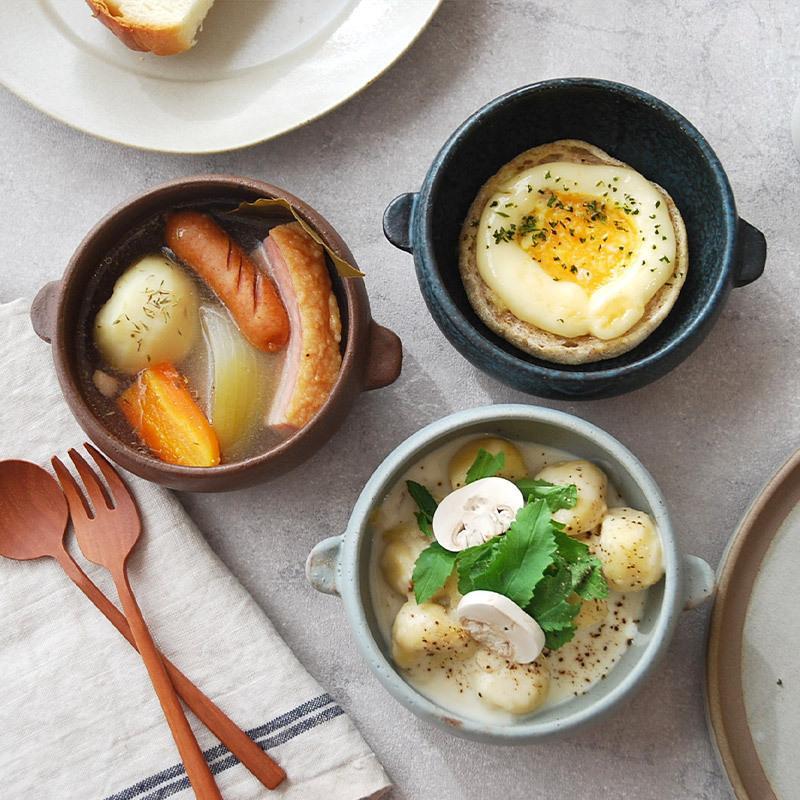 グラタン皿 ボウル型 12cm おうちcafe オーブン可