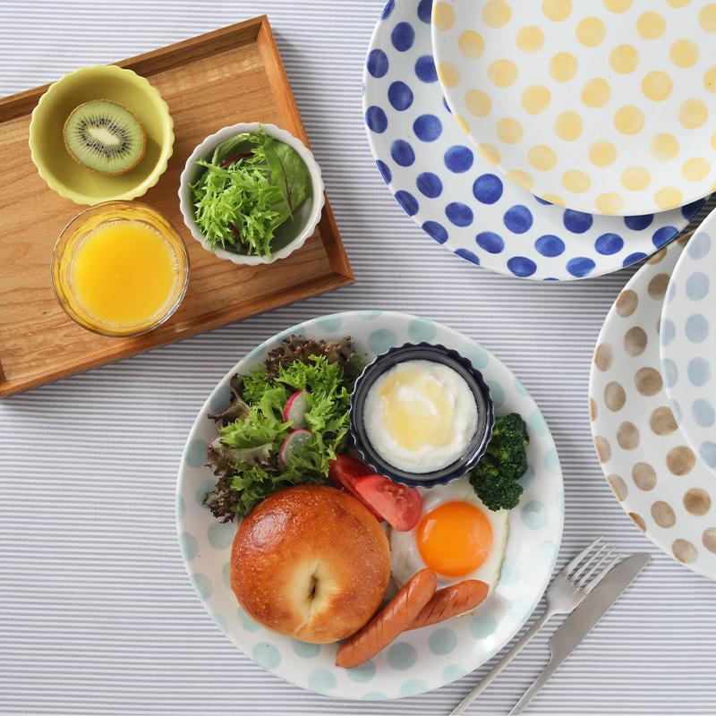 大皿 25cm KatoKato 水玉のお皿プレート