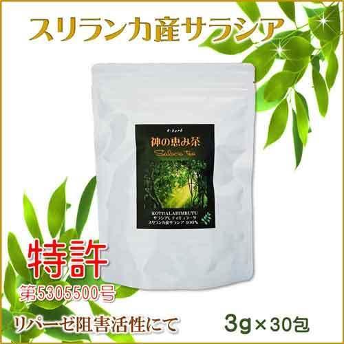 サラシア茶 スリランカ産 神の恵み茶 さわやか美味しいコタラヒムの葉 サラシアレティキュラータ 3g×30包 血糖値 中性脂肪 ダイエット 便秘 腸活 免疫力 t-herb