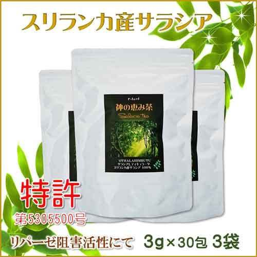 サラシア茶 スリランカ産 神の恵み茶 さわやか美味しいコタラヒムの葉 3g×30包 お得な3袋 サラシアレティキュラータ 血糖値 中性脂肪 便秘 腸活 免疫力|t-herb
