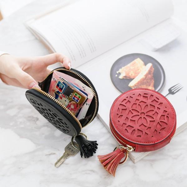 コインケース 小銭入れ レディース ミニウォレット おしゃれ タッセル付き かわいい 財布 コンパクト メンズ 使いやすい カードケース 大容量 多機能 おしゃれ t-martshop 08