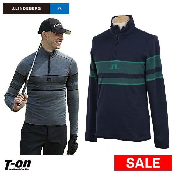 長袖ハーフジップシャツ メンズ Jリンドバーグ J.LINDEBERG 日本正規品 2019 秋冬 新作 ゴルフウェア