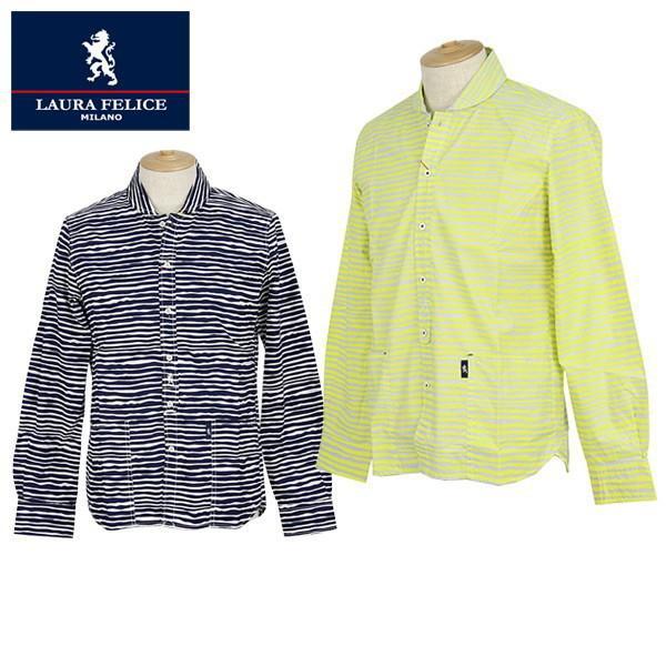 50%OFF セール カジュアルシャツ メンズ ラウラフェリーチェ(ラウラ フィウム) Laura Felice ゴルフウェア