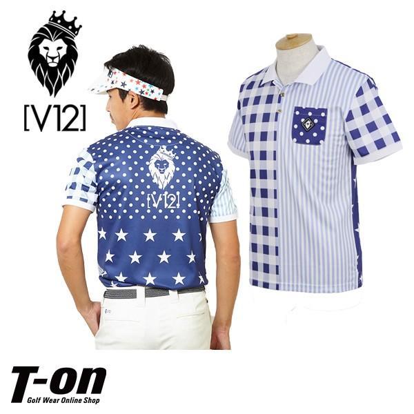 ポロシャツ メンズ V12 ヴィ・トゥエルブ V12 ゴルフウェア