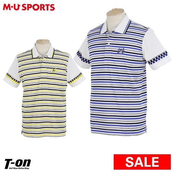 【30%OFFセール】半袖ポロシャツ メンズ MUスポーツ エムユー スポーツ M.U SPORTS MUSPORTS 2019 春夏 ゴルフウェア
