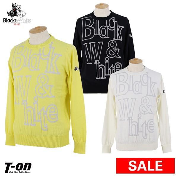セーター メンズ ブラック&ホワイト 黒&白い 2019 秋冬 新作 ゴルフウェア