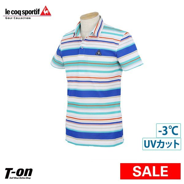 【30%OFFセール】ポロシャツ メンズ ルコックスポルティフ ゴルフ グローバルゴルフコレクション×1910Lartigueコラボ 2019 春夏 ゴルフウェア