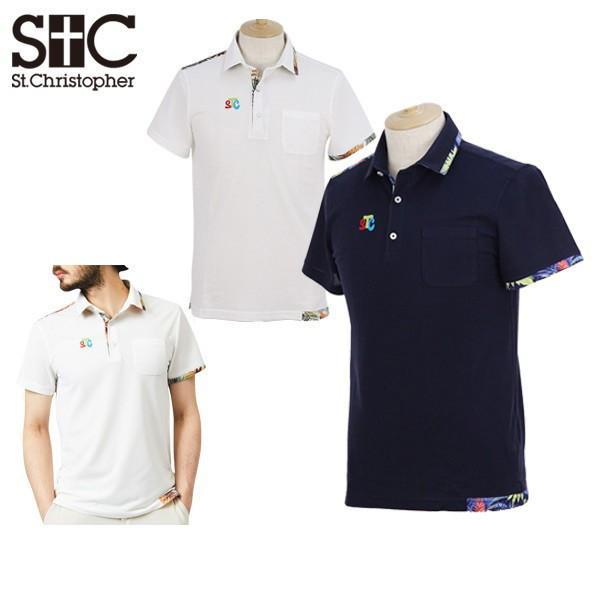 【30%OFFセール】半袖ポロシャツ メンズ セントクリストファー St.Christopher ゴルフウェア