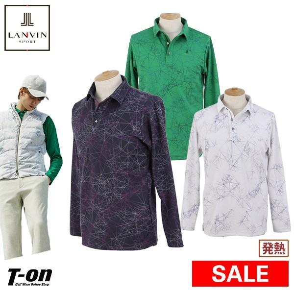 長袖ポロシャツ メンズ ランバン スポール LANVIN SPORT 日本正規品 2019 秋冬 新作 ゴルフウェア
