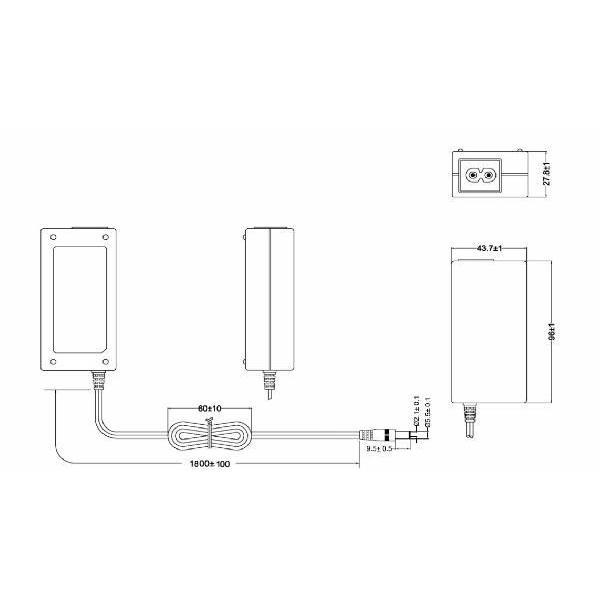 ACアダプタ  24V 2.7A  65W  API365-2427 Anthin社製  t-parts 03