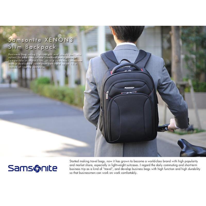 34621b0dd679 サムソナイト ビジネスリュック スリム Samsonite XENON3 Slim Backpack ...