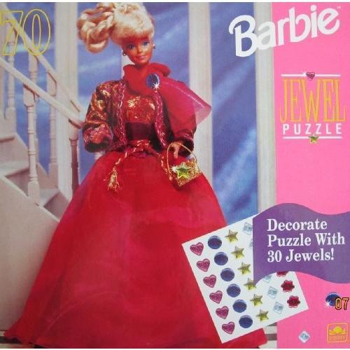 バービー Barbie ハッピー ホリデー ジュエル パズル 70 ピース w 30 ジュエル to Decorate! (1993[海外取寄せ品]
