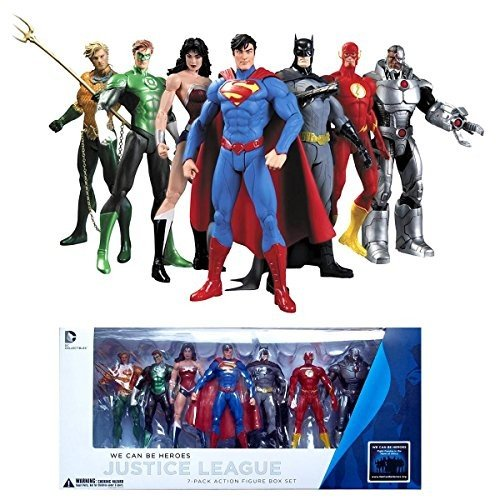 DC Collectibles ジャスティス リーグ Justice League 7-パック アクション Figure ボックス [海外取寄せ品]