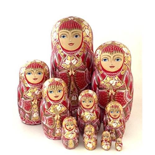 ユニーク ロシアン Nesting ドール プリンセス ハンド ペイント 10 ピース ドール by BuyRussianGifts[海外取寄せ品]