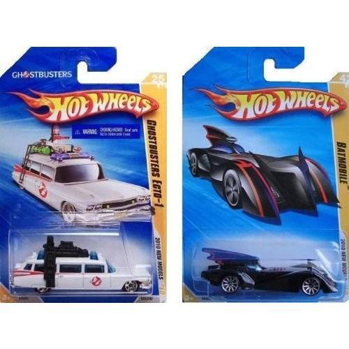 ホット Wheels 2010 New Models 2 Cars - ゴーストバスター Ecto-1 and Batmobile [海外取寄せ品]