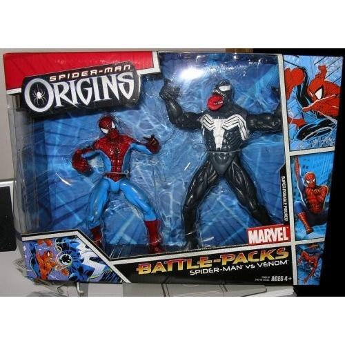 スパイダーマン Spider-Man Origins バトル パック: スパイダーマン Spider-Man vs. Venom[海外取寄せ品]