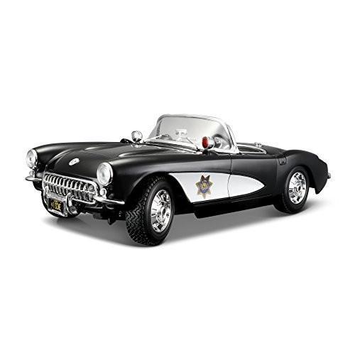 Maisto 1957 Chevy Corvette ポリス Police Diecast Vehicle (1:18 Scale)[海外取寄せ品]
