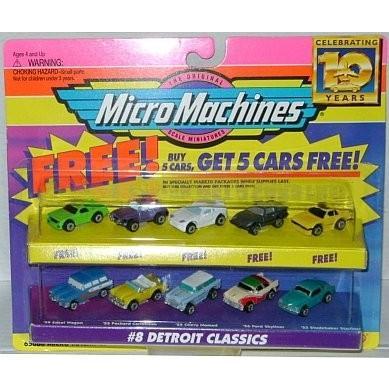 Micro マシーン Detroit クラシック #8 + 5 ボーナス Cars コレクション[海外取寄せ品]