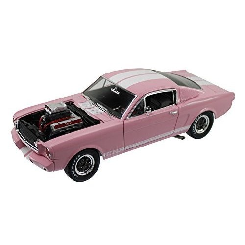 1965 Ford Shelby Mustang GT 350R ピンク with ホワイト ストライプ with レーシング エン[海外取寄せ品]