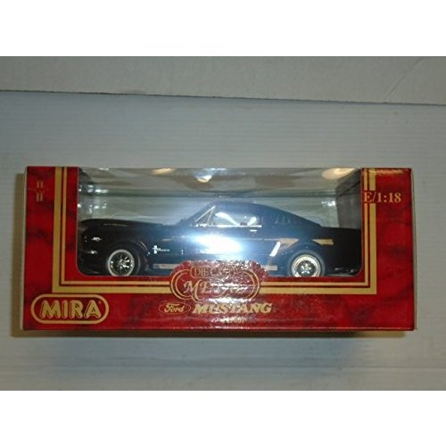 Mira ゴールデン ライン コレクション 1:18 scale 1965 Ford Mustang バック and レッド die[海外取寄せ品]