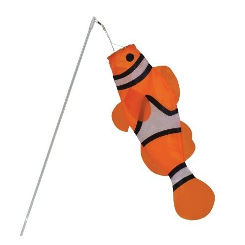 In the ブリーズ Clownfish Windsock on ワンド, 18-インチ (6 pieces)[海外取寄せ品]