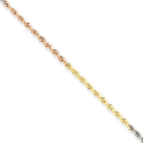2019最新のスタイル 1.8mm, 14 ゴールド, Karat Tri-カラー ゴールド, ダイヤモンド-カット Rope 1.8mm, チェーン - - 16 インチ(海外取寄せ品), グラスマーブル:c7c30994 --- airmodconsu.dominiotemporario.com
