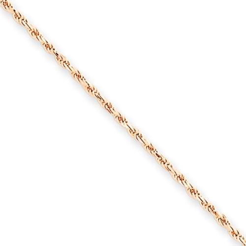 100%の保証 1.5mm, 14 Karat ローズ ゴールド, ダイヤモンド-カット 14 Rope チェーン ゴールド, チェーン - 18 インチ(海外取寄せ品), おかべ水産:a288136b --- airmodconsu.dominiotemporario.com