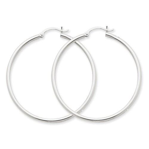 【本物新品保証】 2mm, 14K ホワイト ゴールド クラシック フープ Earrings, クラシック Earrings, 60mm 14K (2 3/8 inch)(海外取寄せ品), 一宇村:b3b669f0 --- airmodconsu.dominiotemporario.com