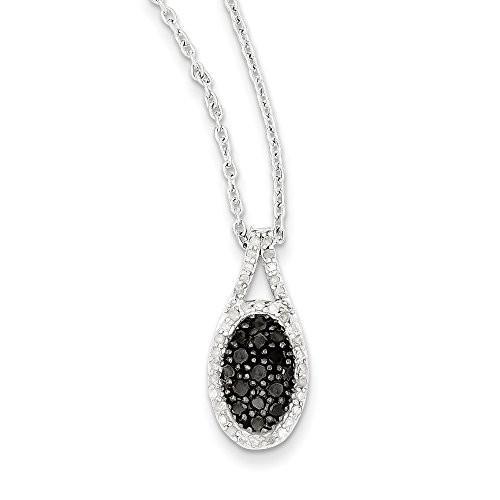 一流の品質 1/2 オーバル Cttw ネックレス ブラック & ブラック ホワイト ダイヤモンド オーバル ネックレス in スターリング シルバー(海外取寄せ品), Z-SPORTS:b58f9997 --- airmodconsu.dominiotemporario.com