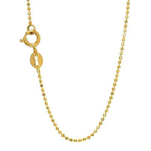 最適な価格 JewelStop 14k ソリッド mm イエロー ゴールド 1 mm ダイヤモンド-カット イエロー Bead Bead Ball チェーン スプリング (海外取寄せ品), モリマチ:57734e28 --- levelprosales.com