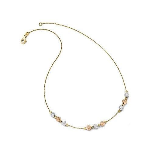 注目 Finejewelers ブライト 14k ビーズ Tri カラー カラー ブライト カット ビーズ ネックレス(海外取寄せ品), ヒガシツガルグン:3cb908a0 --- airmodconsu.dominiotemporario.com