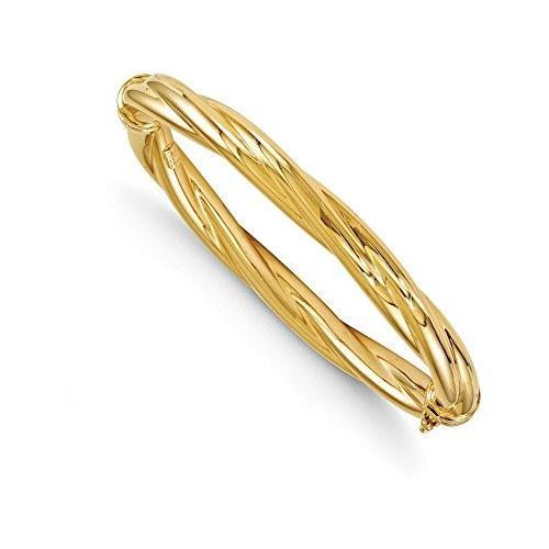 いいスタイル Finejewelers Hinged Finejewelers 14k ポリッシュ ポリッシュ ツイスト Hinged バングル(海外取寄せ品), スタジオ マーリエ:5d47009d --- airmodconsu.dominiotemporario.com