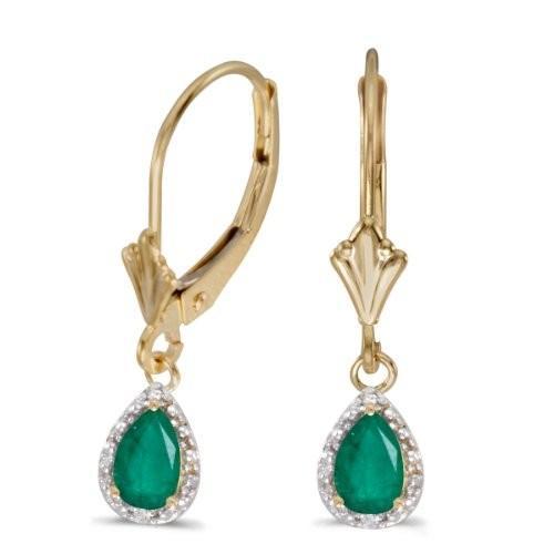 100%正規品 14k イエロー ゴールド Pear Pear エメラルド ダイヤモンド And ダイヤモンド 14k Leverback Earrings(海外取寄せ品), ヤマグン:f5068da4 --- airmodconsu.dominiotemporario.com