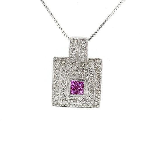 【超歓迎】 ダイヤモンド ペンダント, 14K ホワイト ゴールド 14K ダイヤモンド & ピンク ダイヤモンド ピンク サファイア ペンダント(海外取寄せ品), オゴオリシ:d7b6212b --- airmodconsu.dominiotemporario.com
