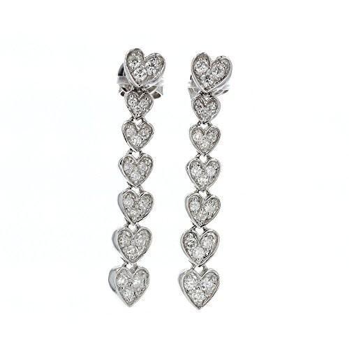 贈り物 ダイヤモンド Earrings, ハート Earrings, ホワイト 14kt ホワイト ゴールド ゴールド ダイヤモンド Dangle Earrings, 0.60TC(海外取寄せ品), 沢内村:9689c643 --- airmodconsu.dominiotemporario.com