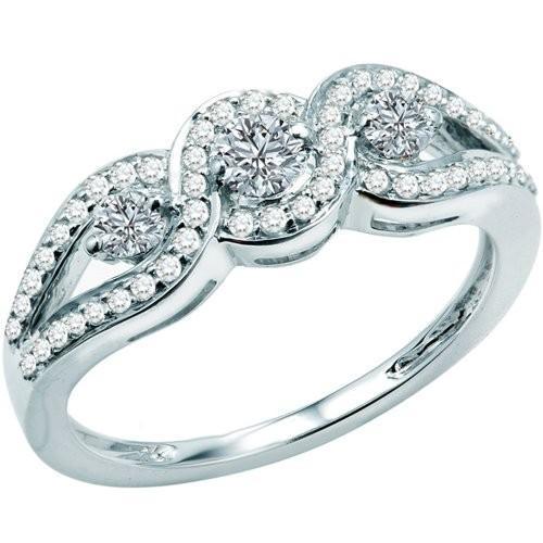 超高品質で人気の 0.65 Carat (ctw) ダイヤモンド 14k ホワイト (ctw) ゴールド ラウンド ダイヤモンド ゴールド レディース Bridal Engagement(海外取寄せ品), マスダシ:7df7cbc7 --- chizeng.com