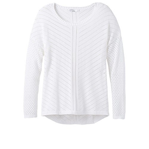 新到着 prAna レディース パーカー セーター, ホワイト, Medium(海外取寄せ品), まるしょう 3ceef410