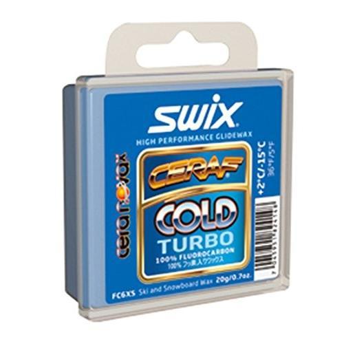 Swix FC6XS ソリッド Cold Turbo Cera ノヴァ X ハイ パフォーマンス Wax, ブルー, 20gm海外取寄せ品