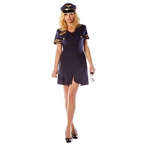 セクシー フライト Attendant コスチューム ドレス Mile ハイ クラブ マッチング ハット インクルード サイズ: X-ラ海外取寄せ品