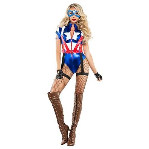 キャプテン USA コスチューム - X-ラージ - ドレス サイズ 14海外取寄せ品