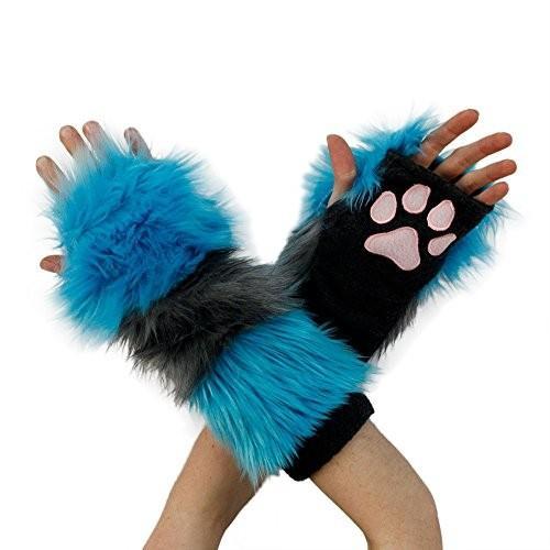 Pawstar Furry チェシャー Cat ストライプ Paw ウォーマー アーム Fingerless グローブ - Altern海外取寄せ品
