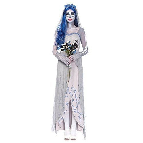 レッグ アベニュー レディース 4 ピース Corpse Bride コスチューム, グレー/青, スモール/Medium海外取寄せ品